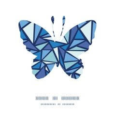 Abstract ice chrystals butterfly silhouette vector
