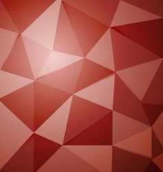 Abstract red polygon triangle background vector image