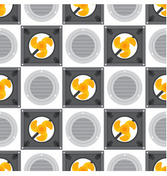 Air conditioner airlock systems seamless pattern vector