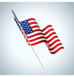 American Fag Waving vector image vector image