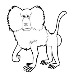 Baboon icon outline vector