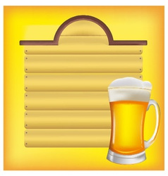 beer and menus vector image