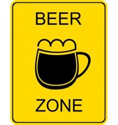 beer zone sign vector image vector image