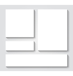Blank card templates vector