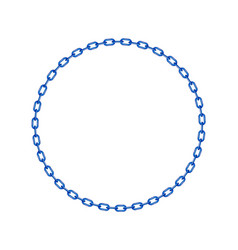Blue chain in shape of circle vector