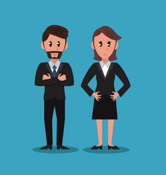 business partners cartoon vector image