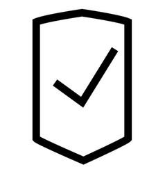 business shop shield success icon vector image