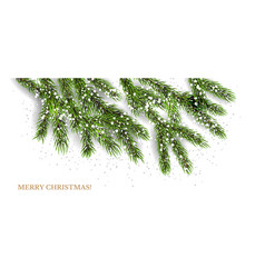 christmas tree banner vector image vector image