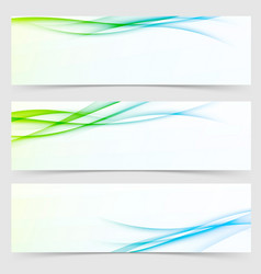 Collection of fresh spring line flyers vector