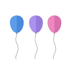 Colorful flat balloons vector image