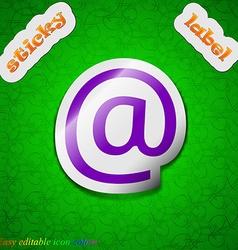 E-mail icon sign symbol chic colored sticky label vector