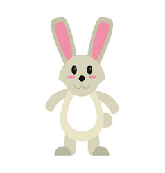easter bunny cute standing vector image