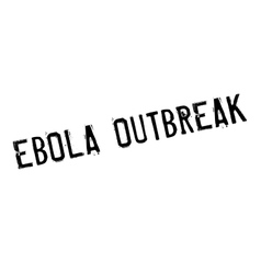 Ebola outbreak rubber stamp vector