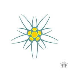 Edelweiss flower simple logo vector