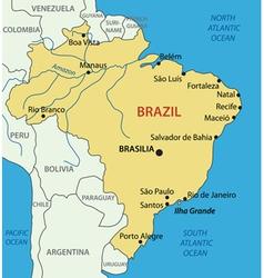 Federative republic of brazil - map vector