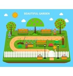 Garden concept vector
