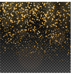 gold glitter particles expensive on a transparent vector image vector image