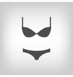 Grey lingerie vector