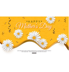Happy mothers day greeting card with typographic vector