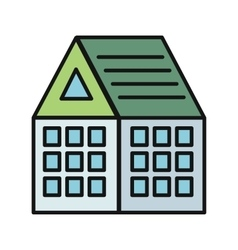 House Icon on White vector image vector image