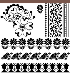 indian ornaments vector image