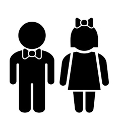 Man and Woman Icons Toilet Sign Restroom Icon vector image