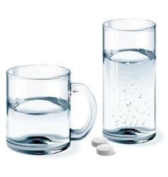 Mug and glass of water vector image