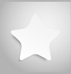 Paper banner design mockup star vector