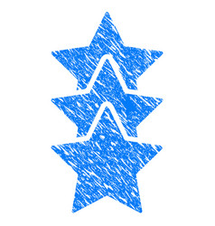 rating stars grunge icon vector image