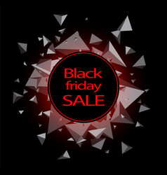 round black friday sale background vector image vector image