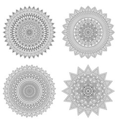 Set of floral mandalas vector