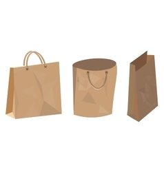 Set of paper bag for food shop and supermarket vector image vector image