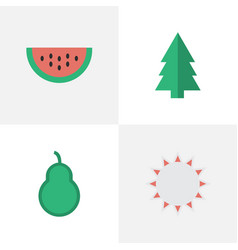 set of simple horticulture icons elements sunny vector image vector image