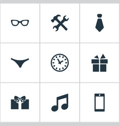 set of simple instrument icons vector image vector image