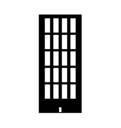 Sky tower building black color icon vector