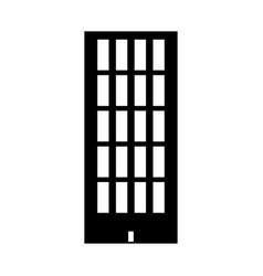 Sky tower building black color icon vector
