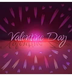 St Valentines day greeting card with hearts vector image vector image
