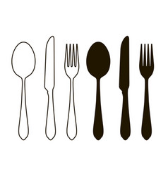 table setting tableware cutlery set of fork vector image
