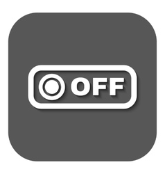 The off button icon off switch symbol flat vector