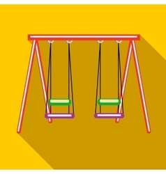 Two swings icon in flat style vector image vector image