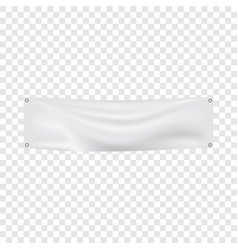 white banner mockup realistic style vector image vector image