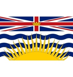 Flag of british columbia correct size and colors vector