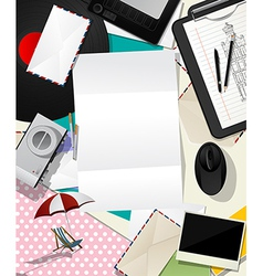 Letter collage abstract vector