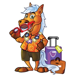 Pony Tourist vector image