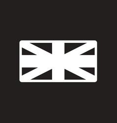 stylish black and white icon british flag vector image
