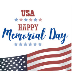 Usa memorial day happy memorial day card vector