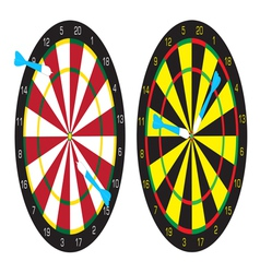 Dart boards and darts vector