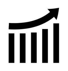 Growing graph black color icon vector
