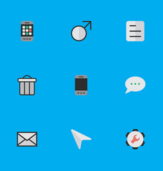 Set of simple ui icons elements document message vector