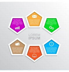 Infographic template 6 vector